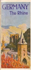Vintage German poster - Germany, The Rhine